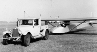 Slingsby T21 on tow.